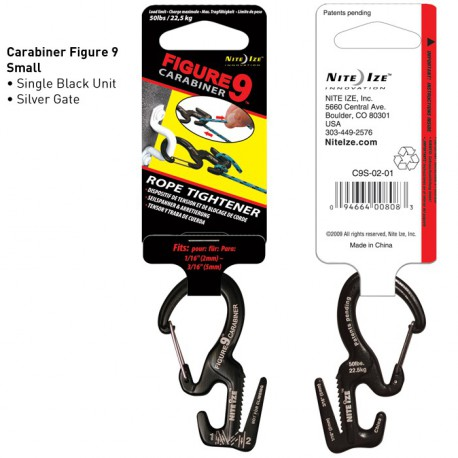 Карабин Figure 9 Carabiner Small Black