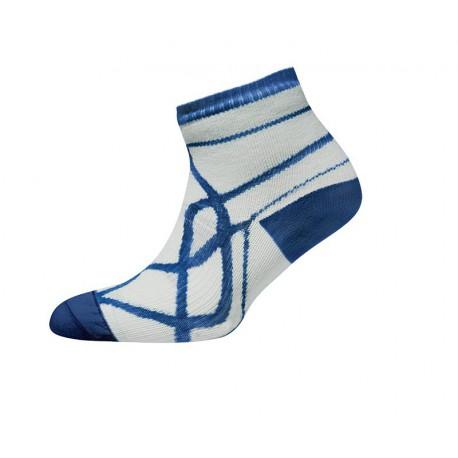 Легкие тонкие носки . Цвет: Бело-синий. Thin Socklet - White/Navy