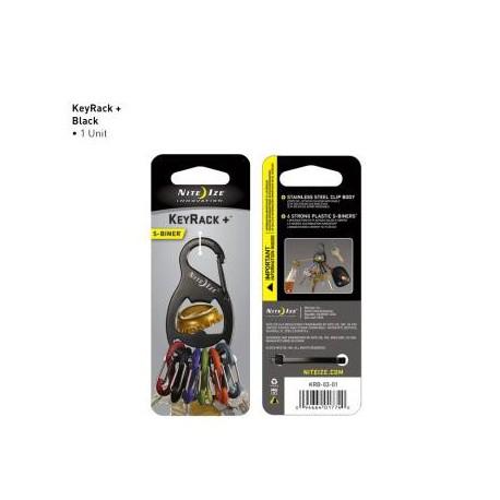 Брелок-карабин для ключей с интегрированной открывалкой для бутылок  S-Biner KeyRack + Bottle Opener