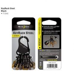 Брелок-карабин для ключей S-Biner KeyRack Steel