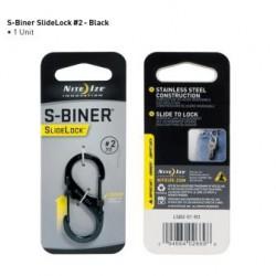 Карабин универсальный с блокировкой S-Biner SlideLock для ключей и других предметов