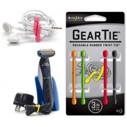 """Многоразовые хомуты (гибкие стяжки) для размещения и организации проводов Gear Tie® Twist Tie 3"""""""