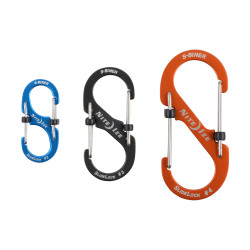 """Алюминиевый карабин с затворами для ключей и предметов S-Biner SlideLock размер 3"""""""