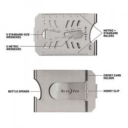 Карманный инструмент размером с кредитную карту + зажим для денег FinancialTool Money Clip