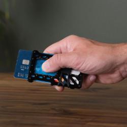 Карманный инструмент в виде кредитки + зажим для денег FinancialTool RFID