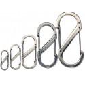 Карабин для ключей и других предметов Nitelze S-Biner - Stainless Steel