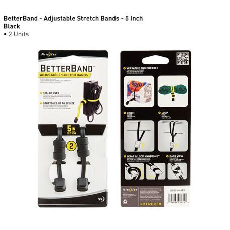 """Регулируемый хомут для крепежа и упаковки туристического снаряжения BetterBand™ 5"""" Adjustable Stretch Bands"""