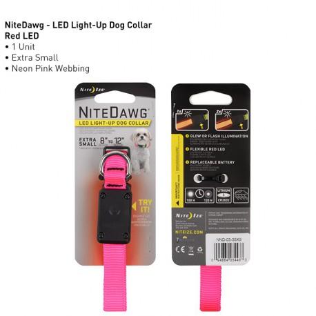Мягкий светящийся ошейник Nite Dawg XS LED Dog Collar