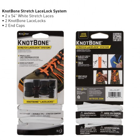 Шнурки безузловая система KnotBone Stretch LaceLock System